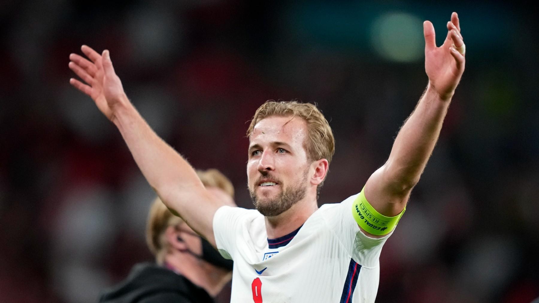 Harry Kane, en la Eurocopa con Inglaterra. (Getty)
