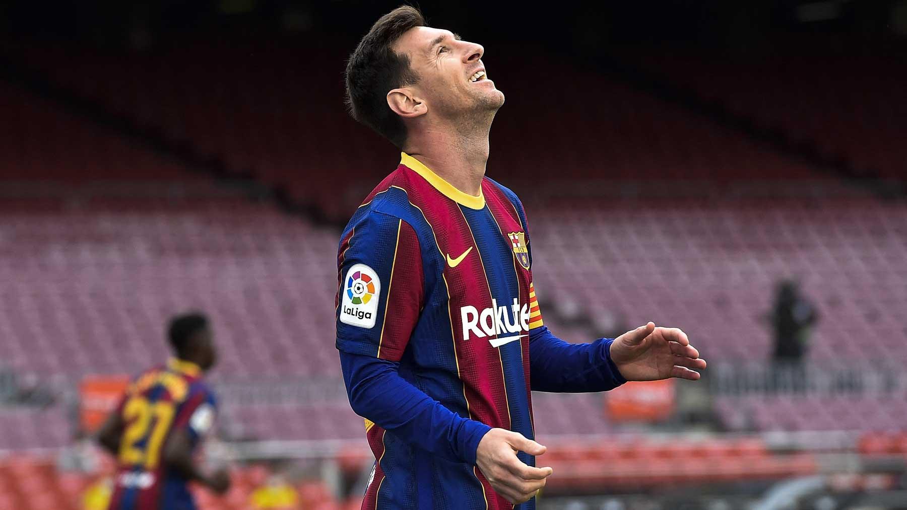 Leo Messi, durante un partido con el Barcelona la pasada temporada (AFP)