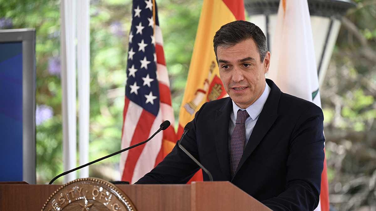 Pedro Sánchez en su visita a EEUU.
