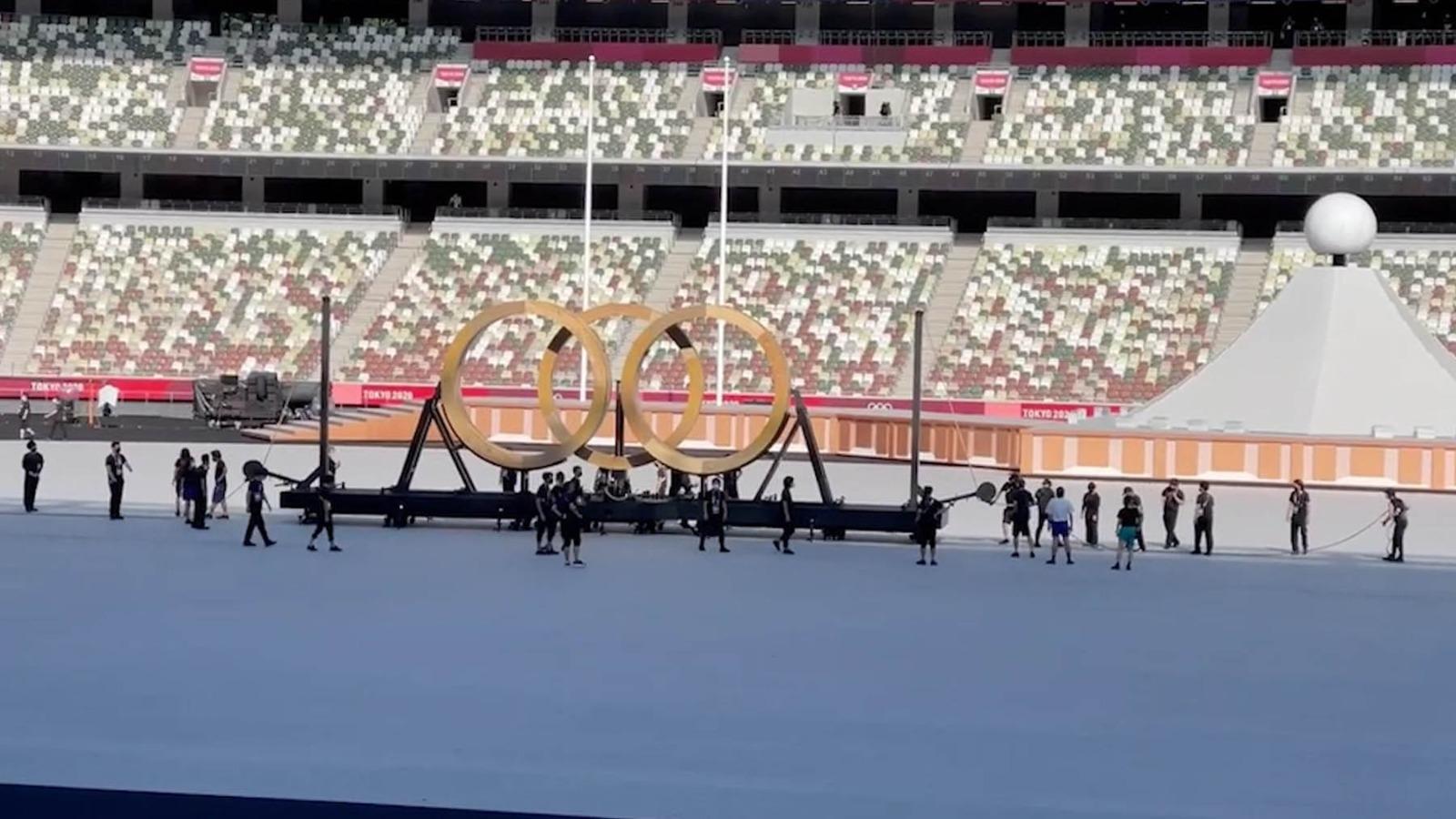 El estadio olímpico de Tokio, listo para una cita histórica.