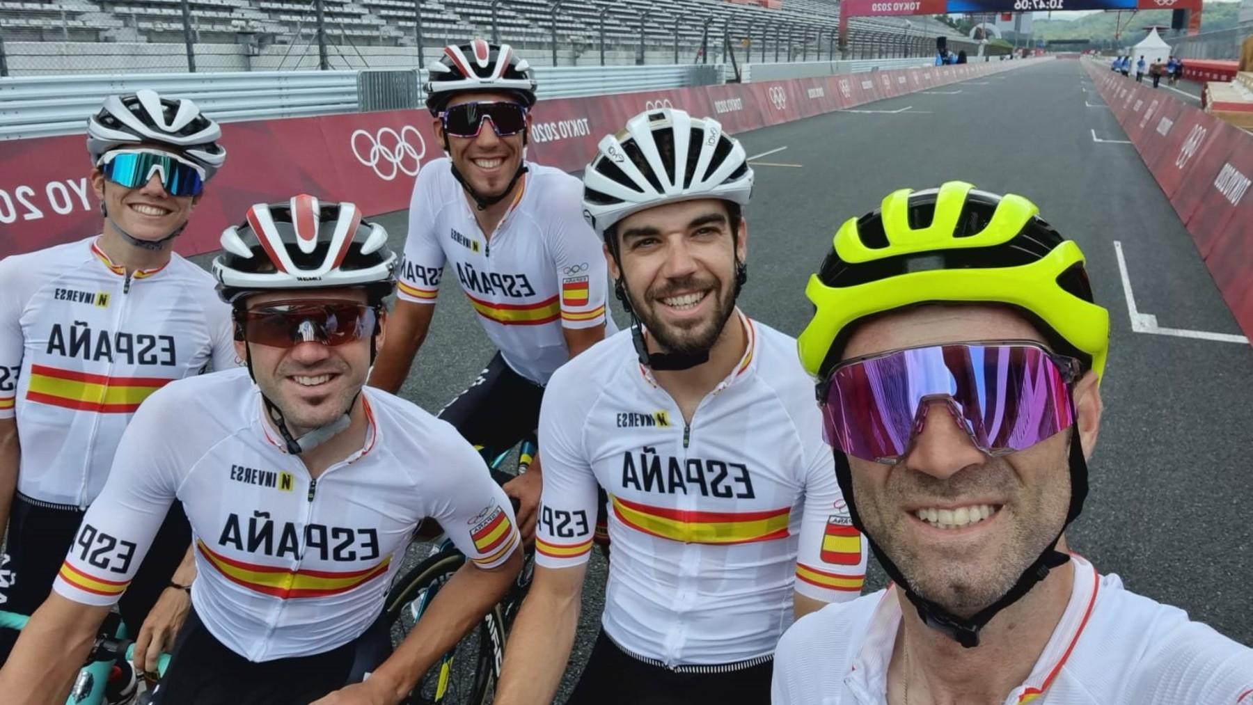 El equipo olímpico español de ciclismo.