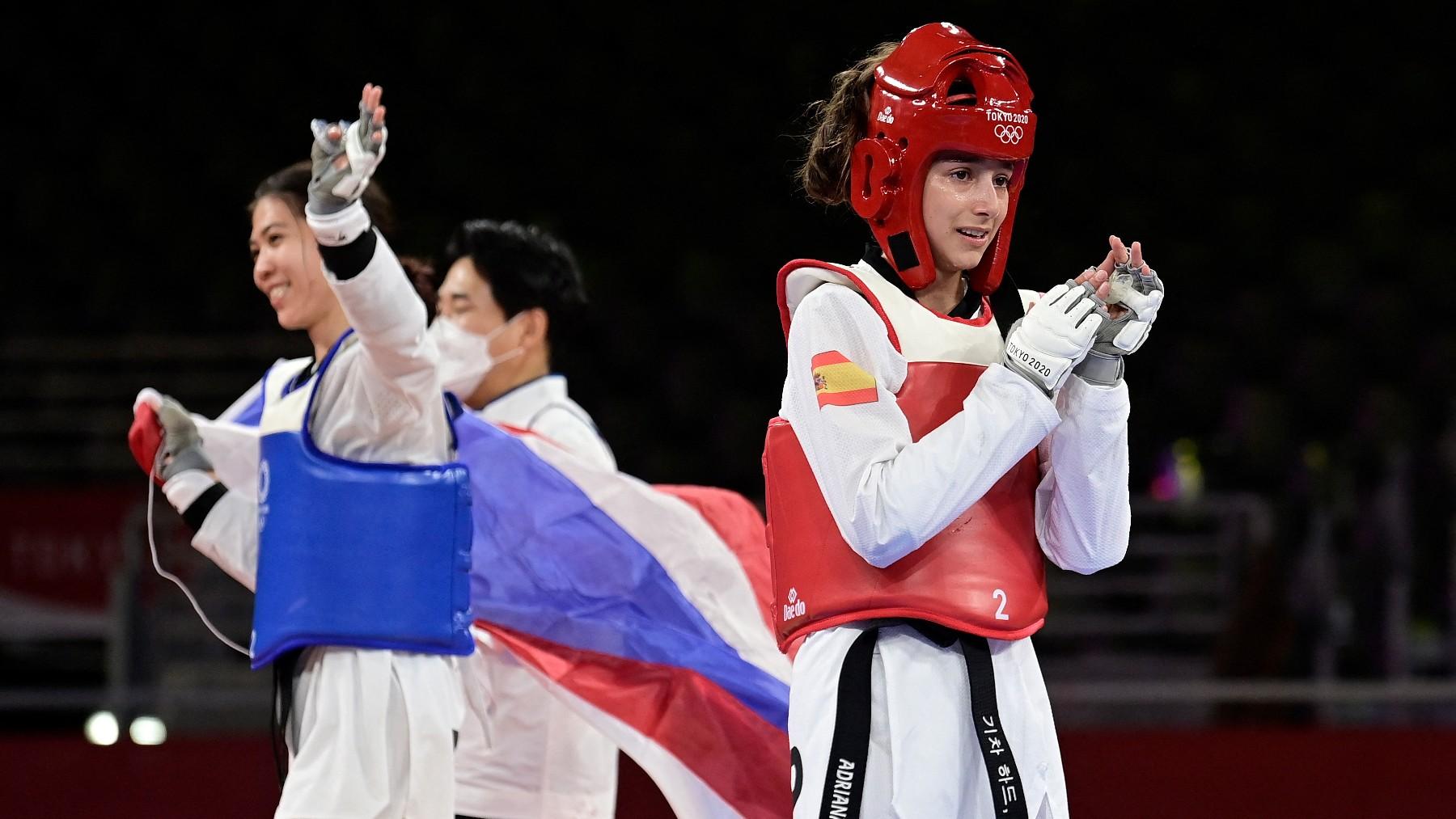 Adriana Cerezo, al término de la final. (AFP)