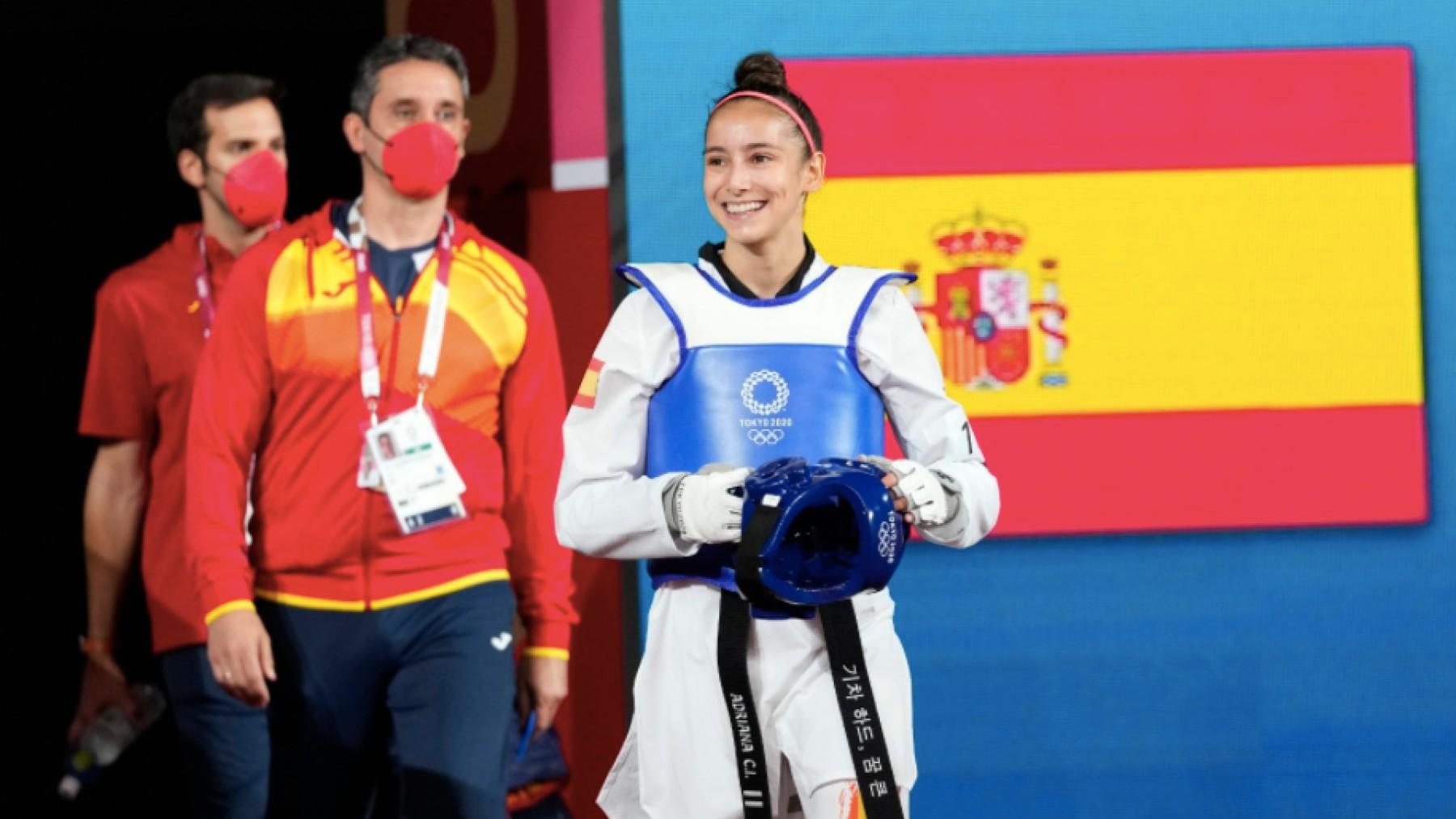 Adriana Cerezo, antes de un combate.