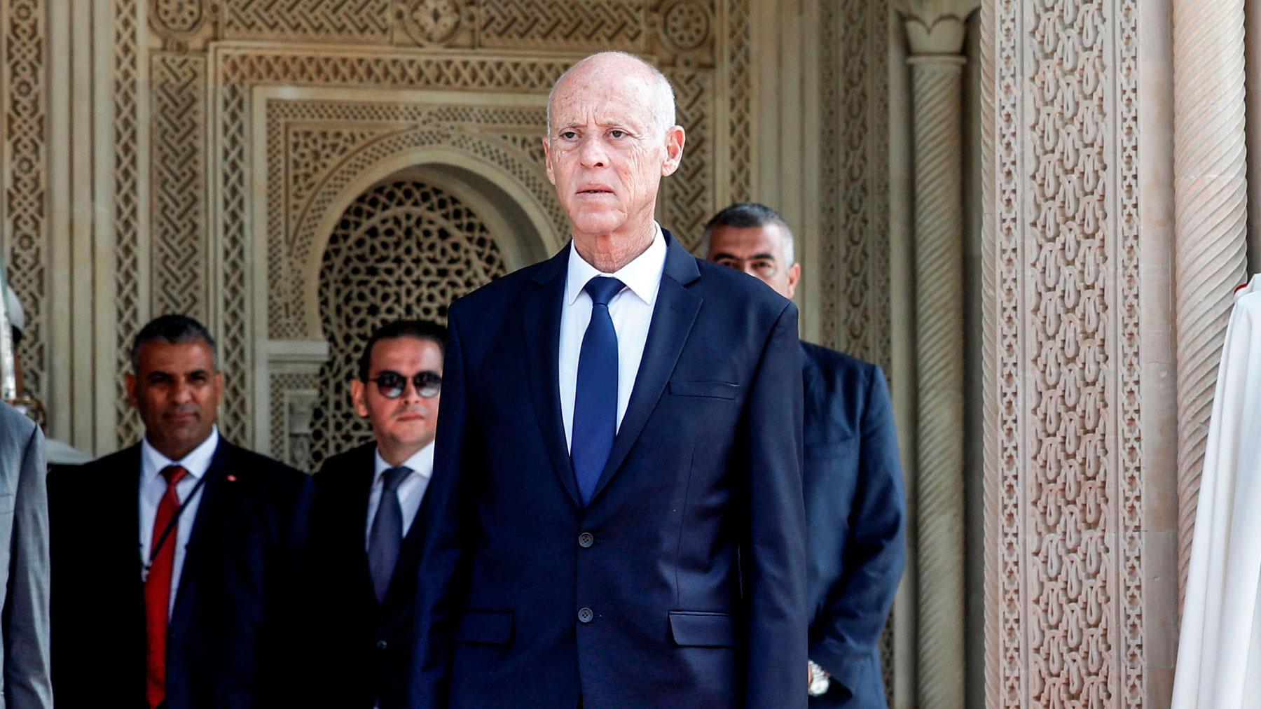 El presidente de Túnez. Kais Saied. Foto: EP