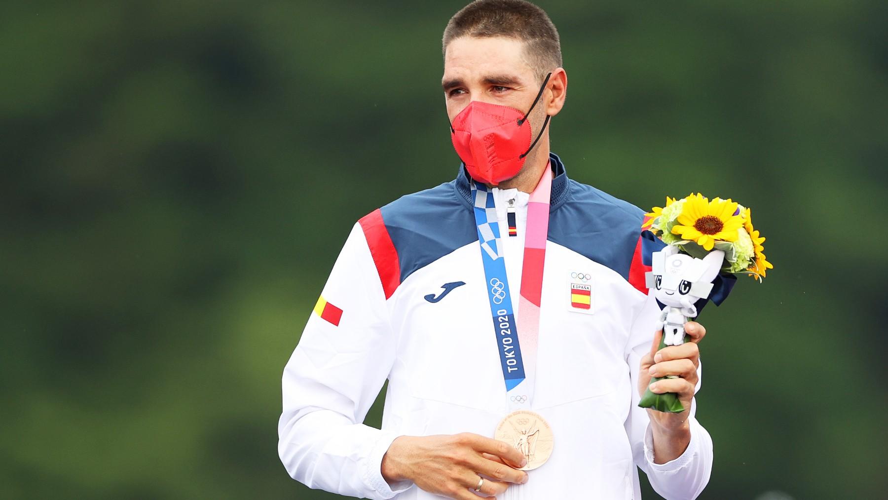 David Valero, con la medalla de bronce.
