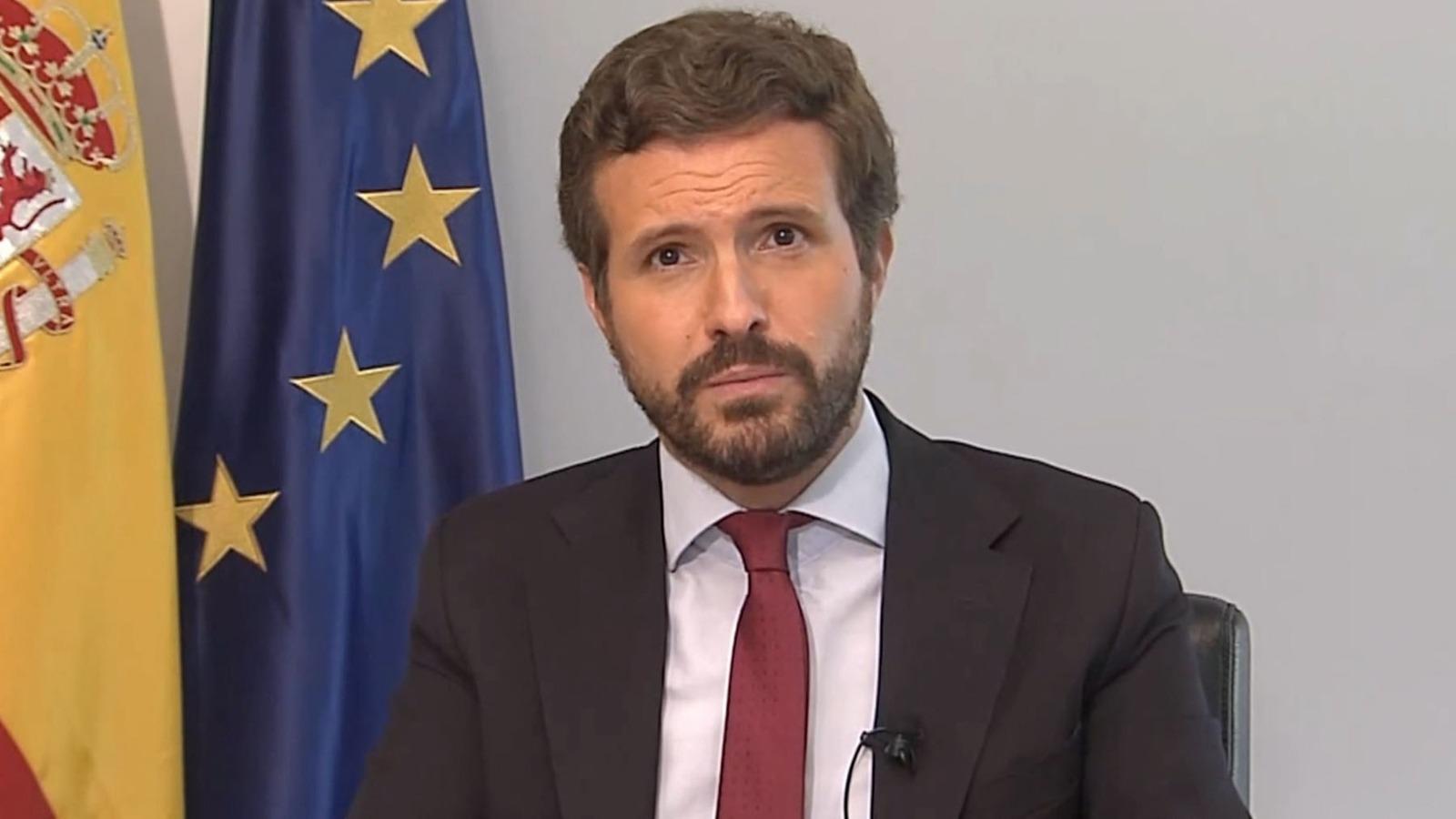 Pablo Casado, presidente del Partido Popular.