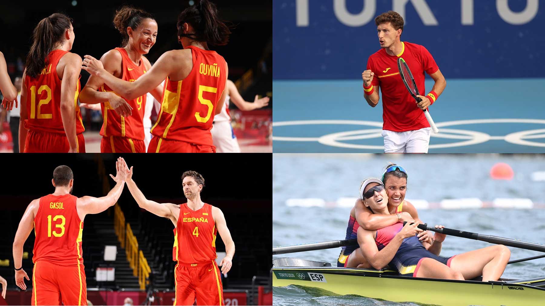 Baloncesto, remo, tenis son algunos de los eventos destacados hoy jueves 29 de julio en los Juegos Olímpicos (Getty y AFP)