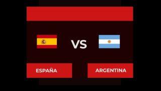 España Argentina hora tv