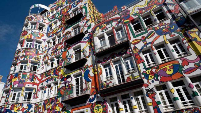 Mural en el Hotel Artmadarms que el Ayuntamiento de Palma quiere retirar.
