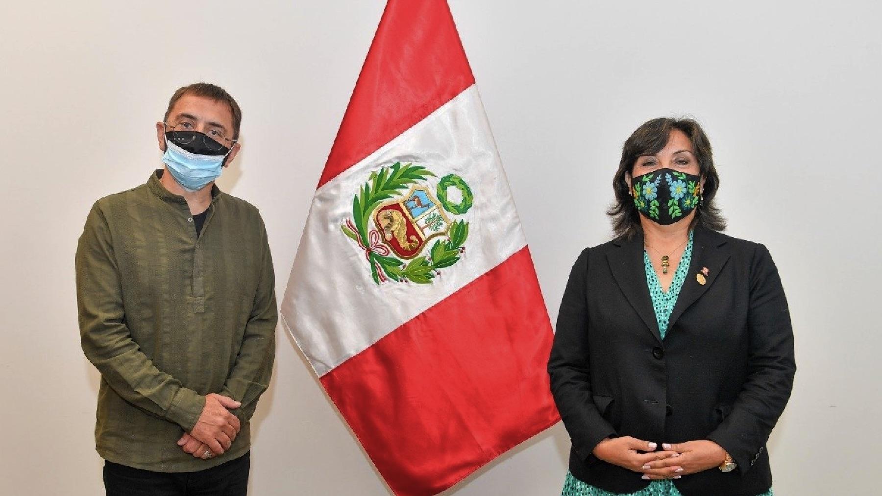 Juan Carlos Monedero en Perú. (Foto: Redes)
