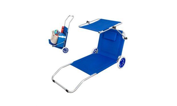 Tumbona carrito de playa plegable