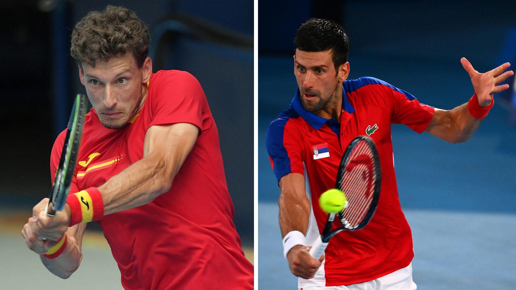 El español Pablo Carreño y el serbio Novak Djokovic lucharán por la medalla de bronce en Tokio 2020