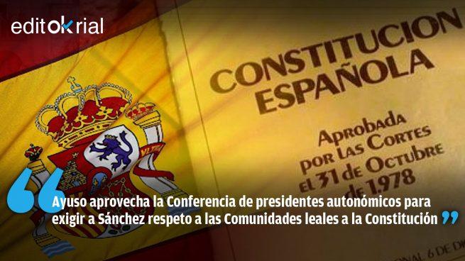 Lección de lealtad constitucional de Ayuso a Pedro Sánchez