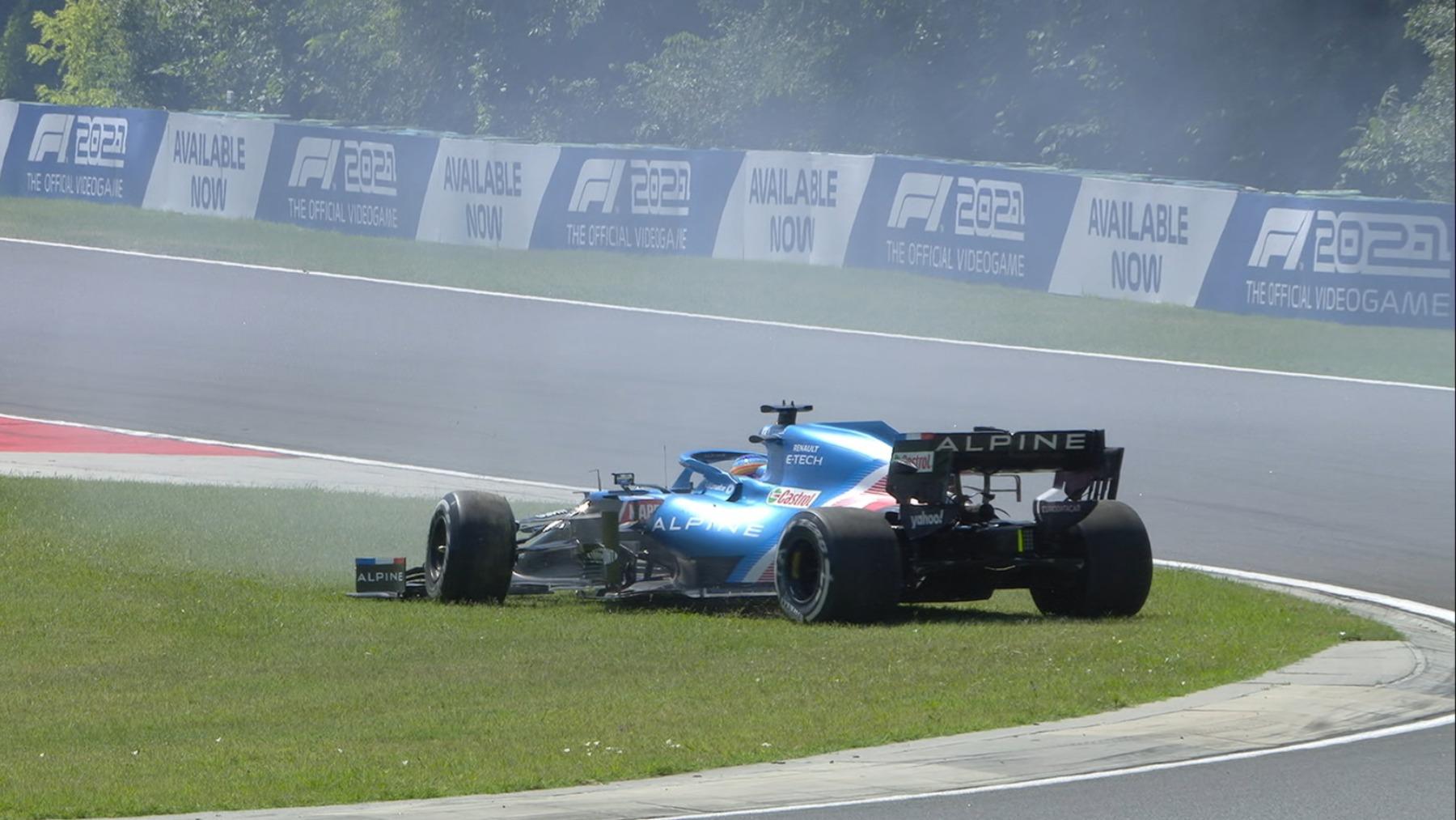 Fernando Alonso en el GP de Hungría. (@F1)
