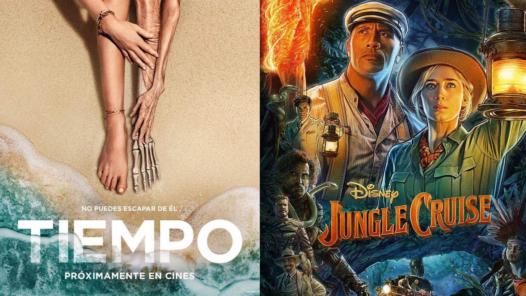 «Jungle Cruise» (Disney) y «Tiempo» (Universal Pictures) se estrenan este fin de semana