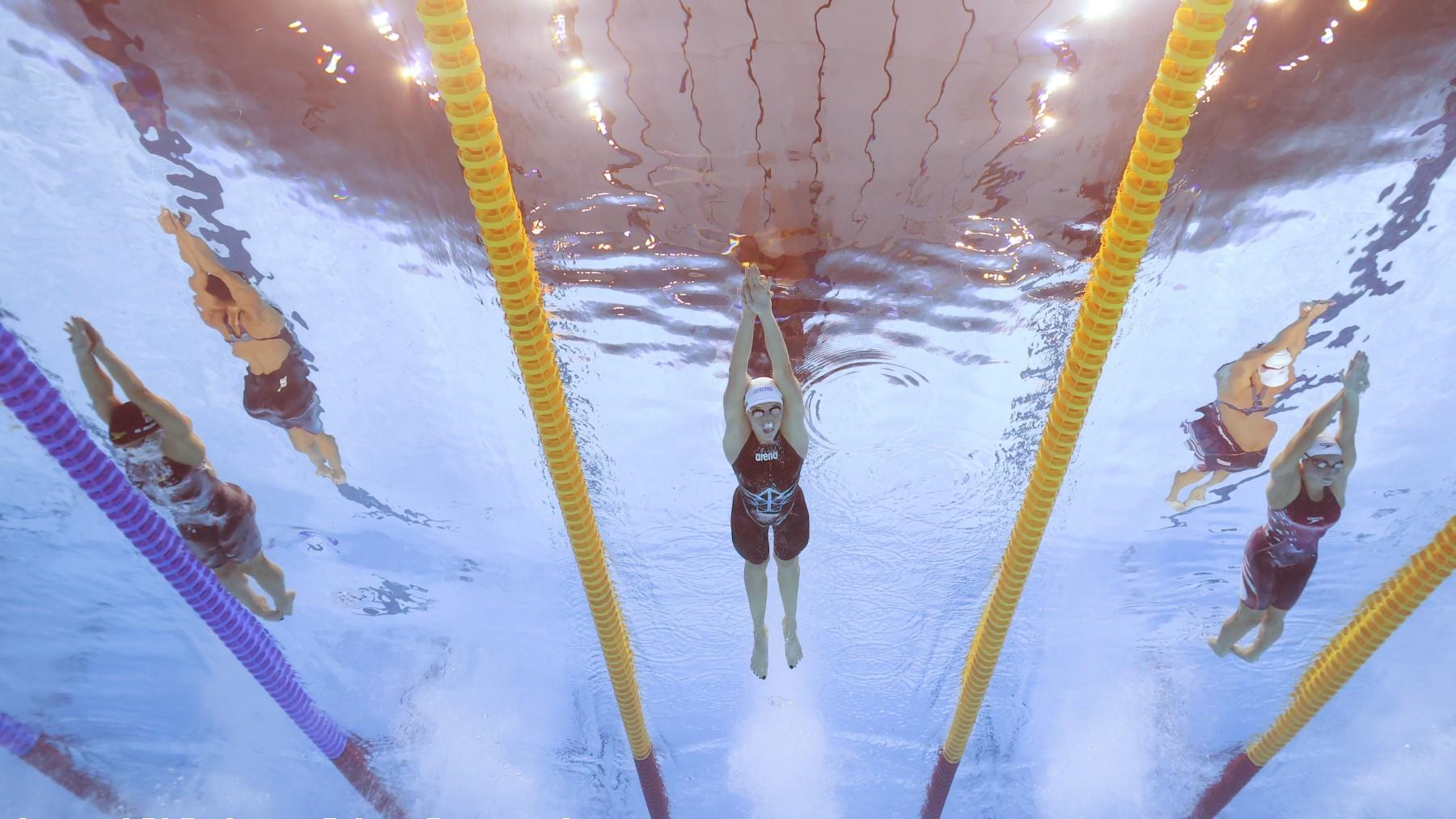 Mireia, a la derecha, en una competición de los Juegos Olímpicos. (Getty)
