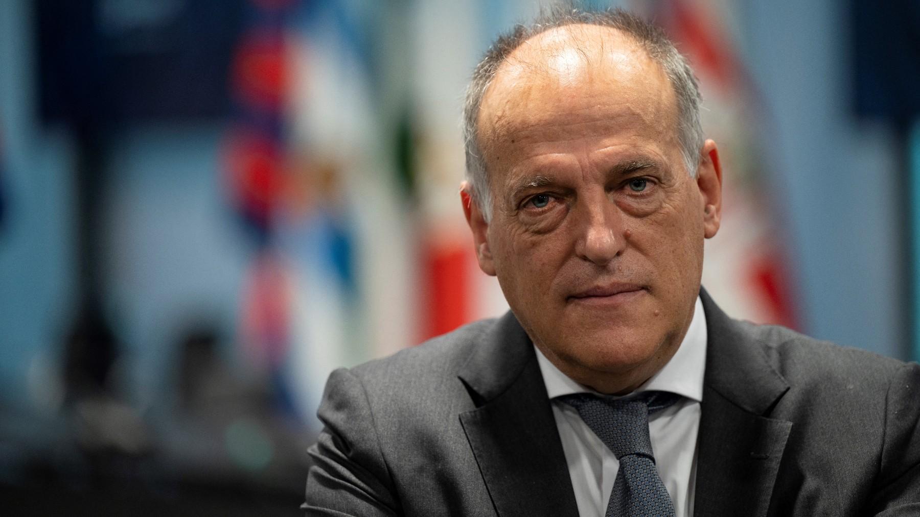 Javier Tebas, presidente de la Liga. (AFP)
