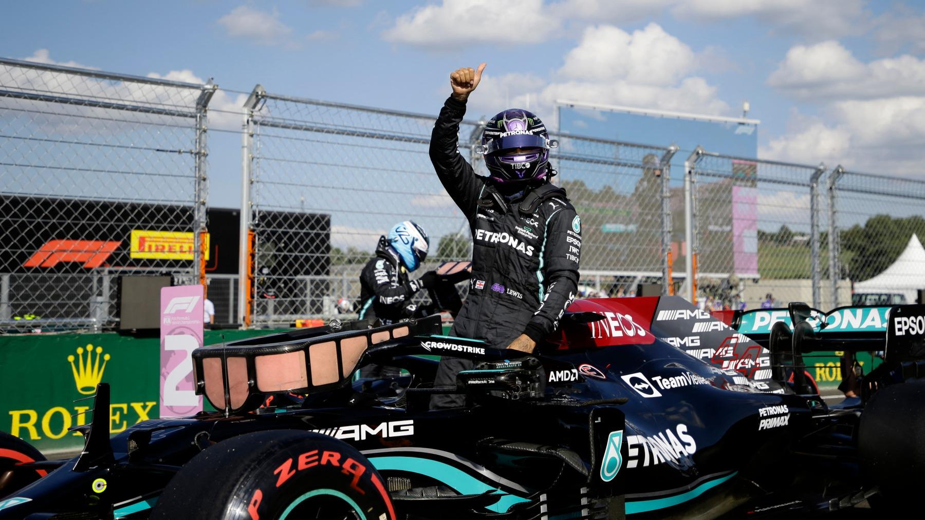 Lewis Hamilton durante la sesión de clasificación del GP de Hungría. (AFP)
