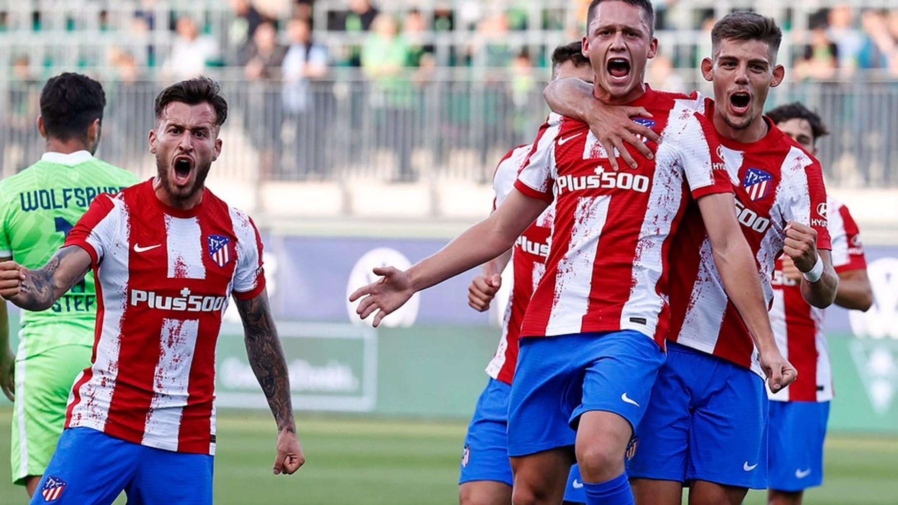 El Atlético de Madrid celebra un gol. (Europapress)