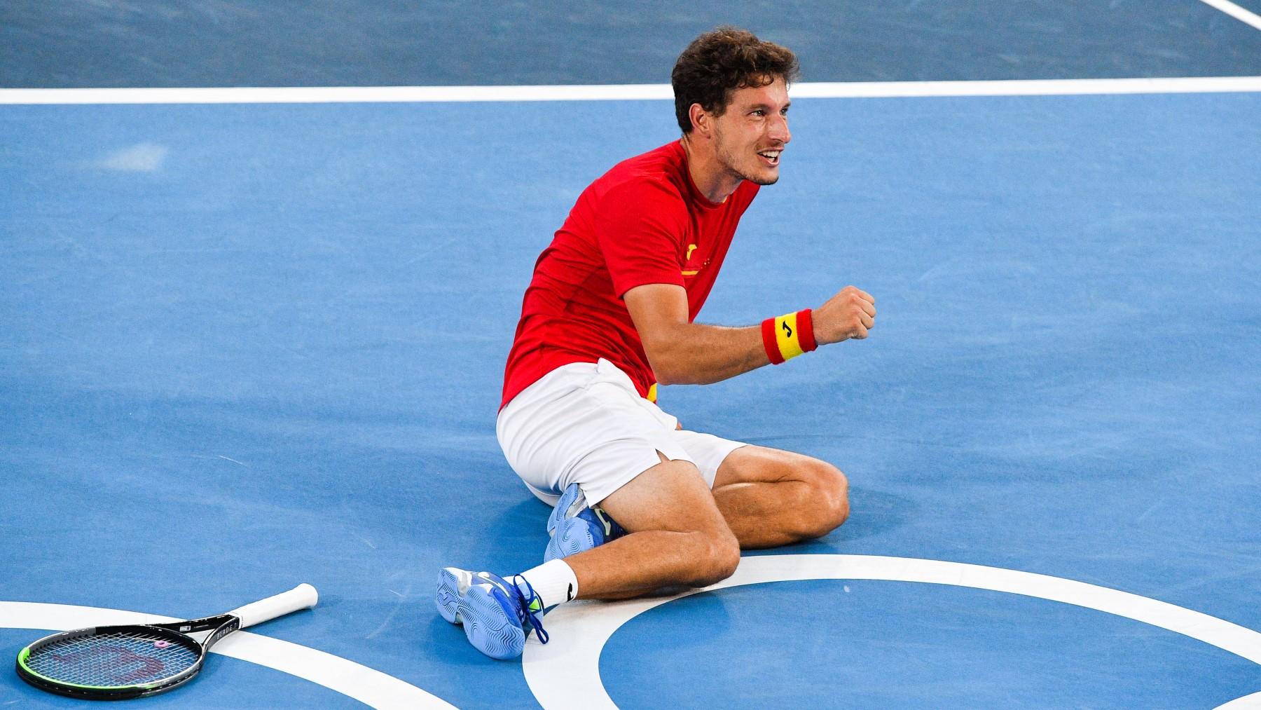 Carreño celebra su victoria. (AFP)