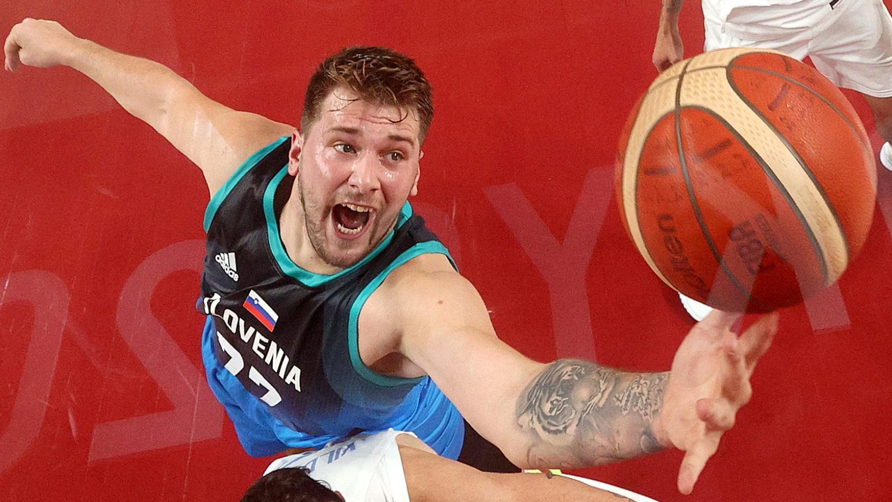 Luka Doncic es la gran amenaza de Eslovenia. (Getty)