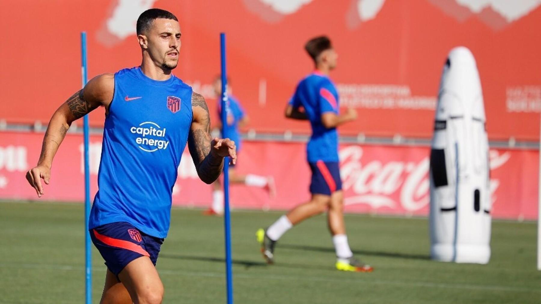 Mario Hermoso, durante un entrenamiento. (Atlético de Madrid)