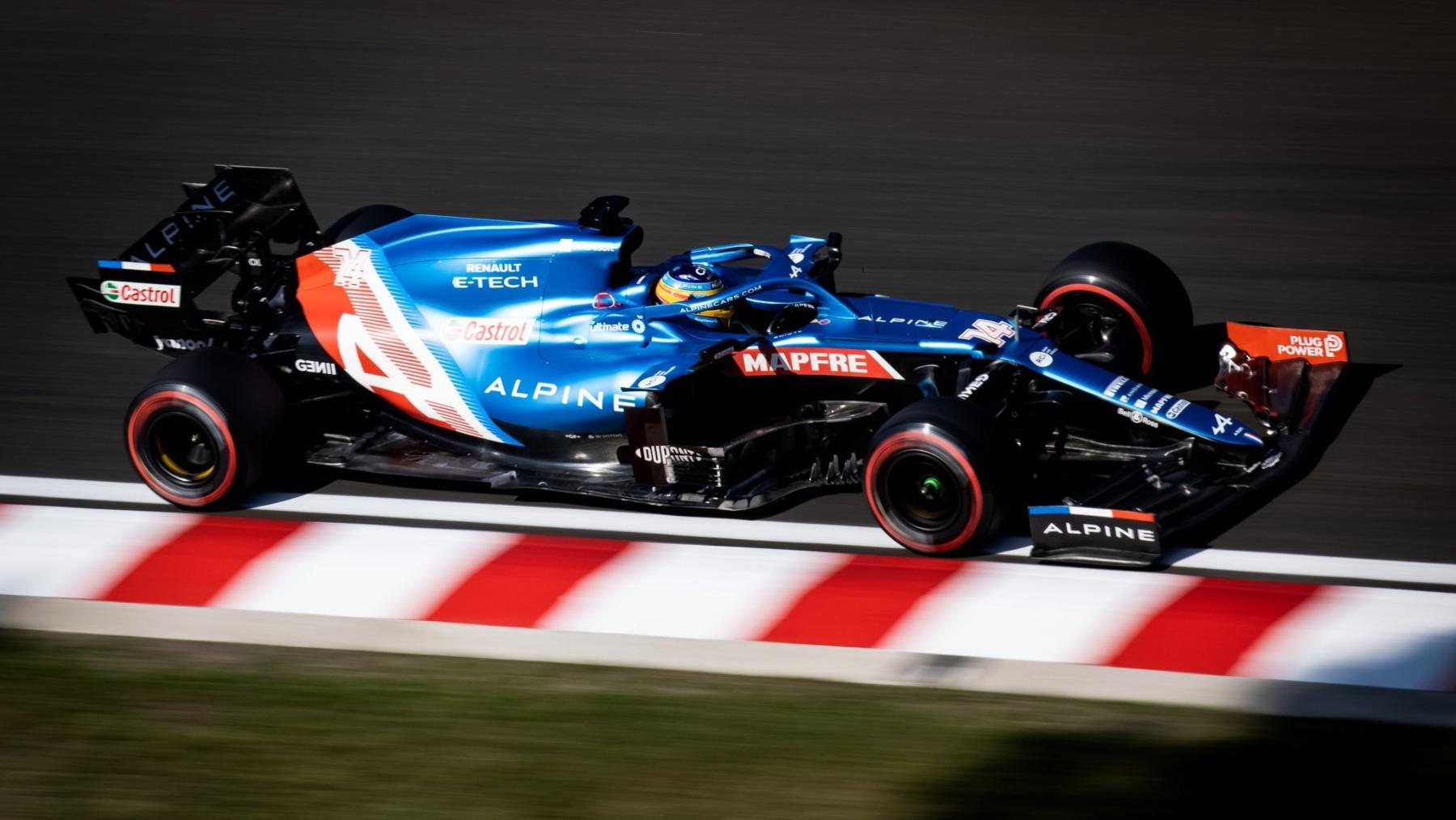 Fernando Alonso. (@AlpineF1Team)