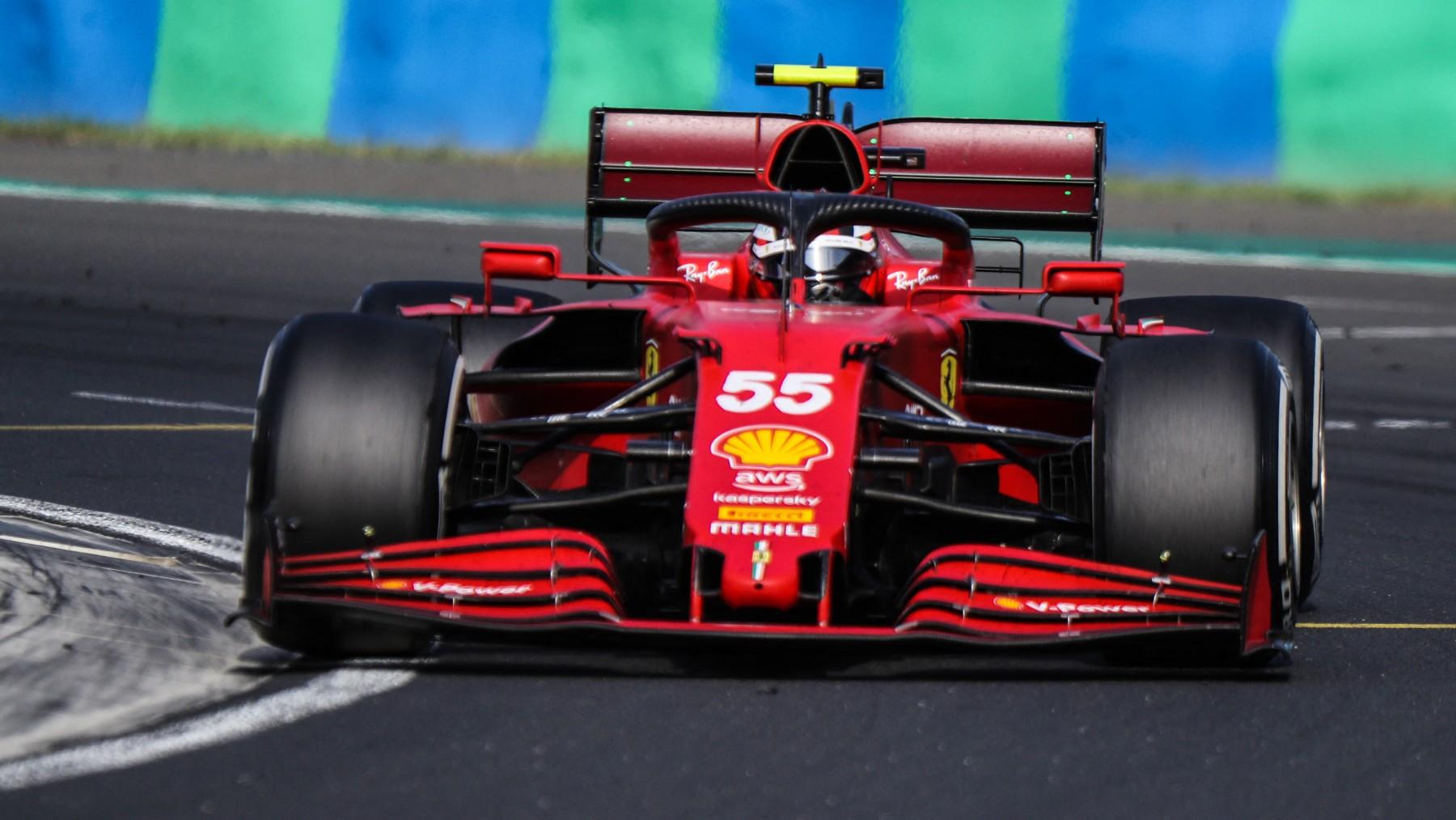 Carlos Sainz, durante un Gran Premio de Fórmula 1. (AFP)