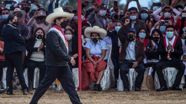 Pedro Castillo, al sur de Perú (Foto: AFP)