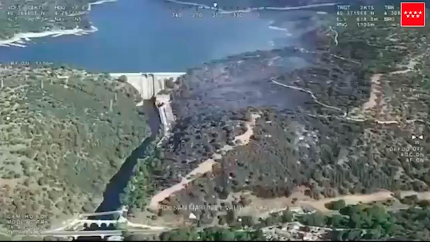 Vista aérea del pantano de San Juan. Imagen Comunidad de Madrid.