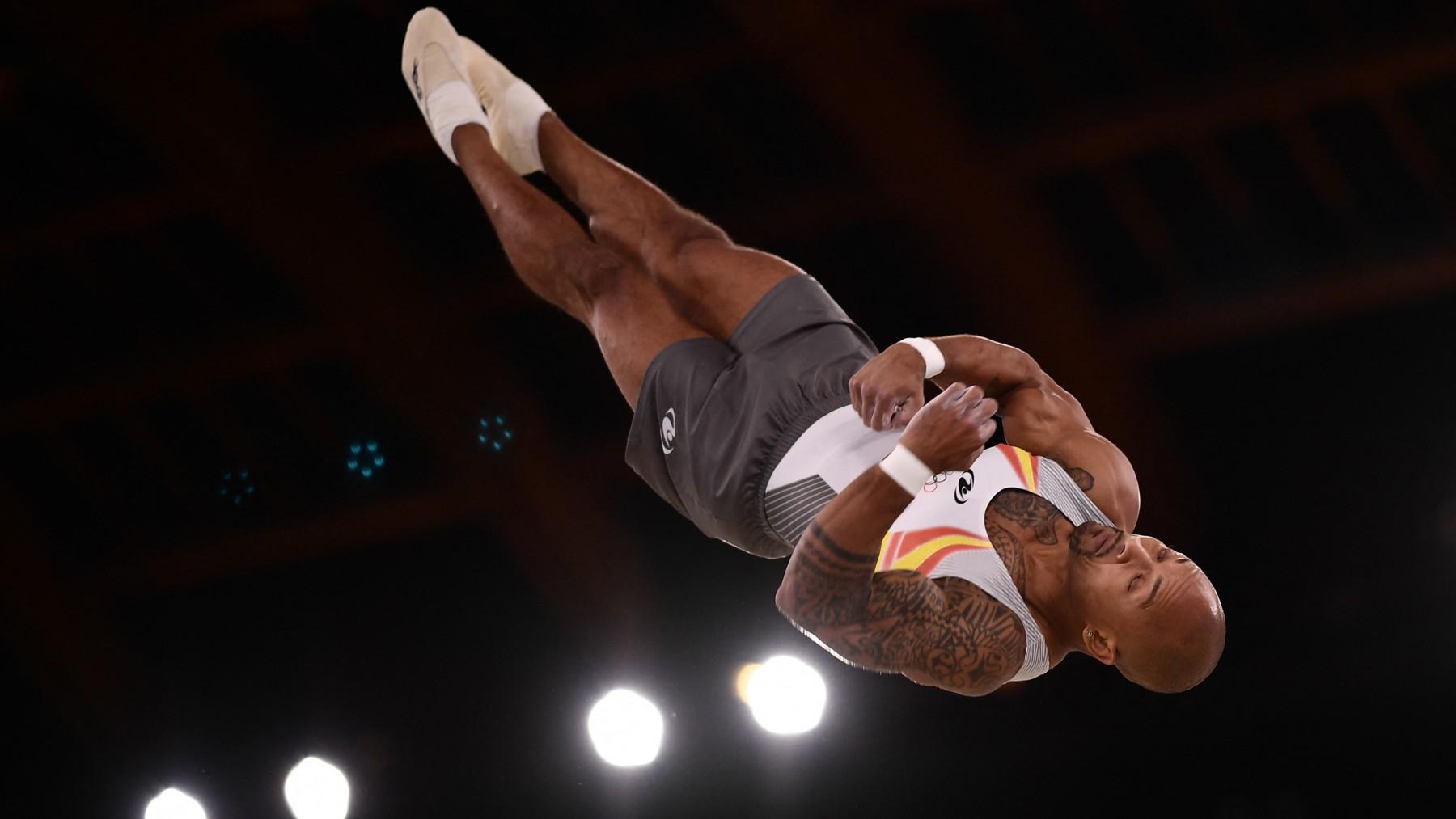 Ray Zapata, durante la final en Tokio. (AFP)