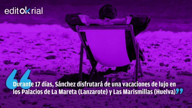 No hay quinta ola que pueda con las vacaciones de Sánchez