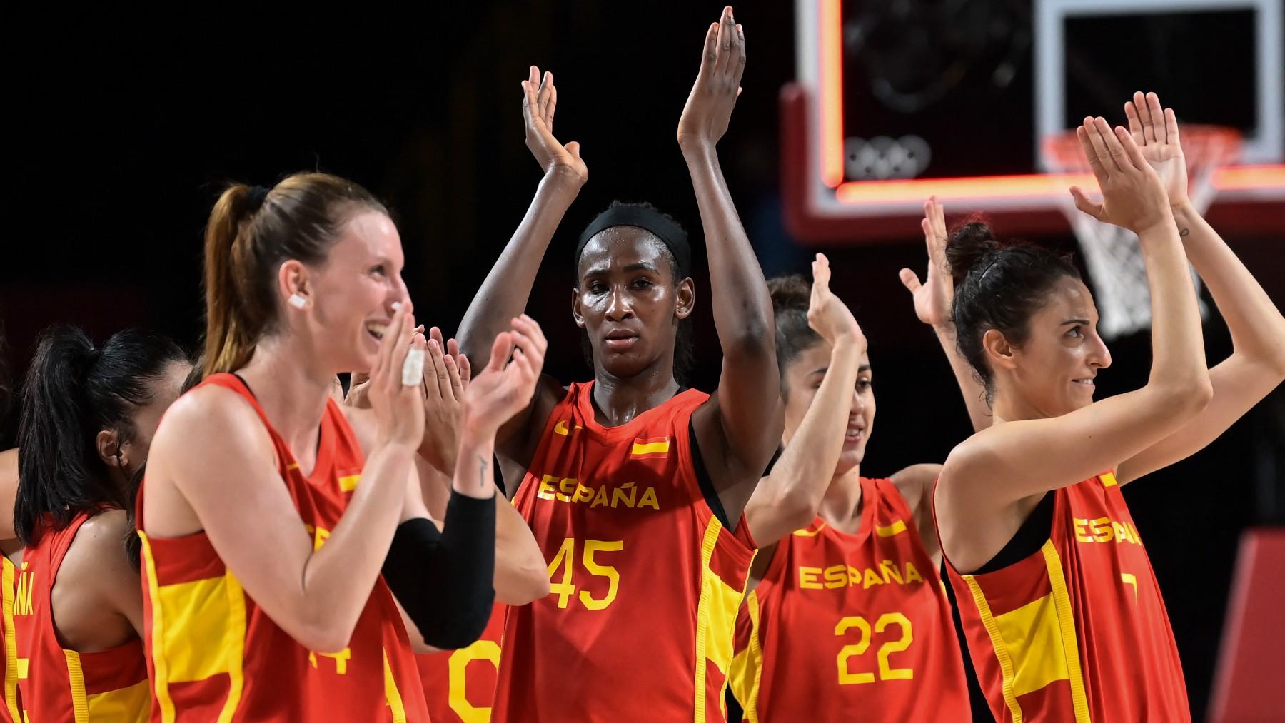 La selección española femenina de baloncesto. (AFP)