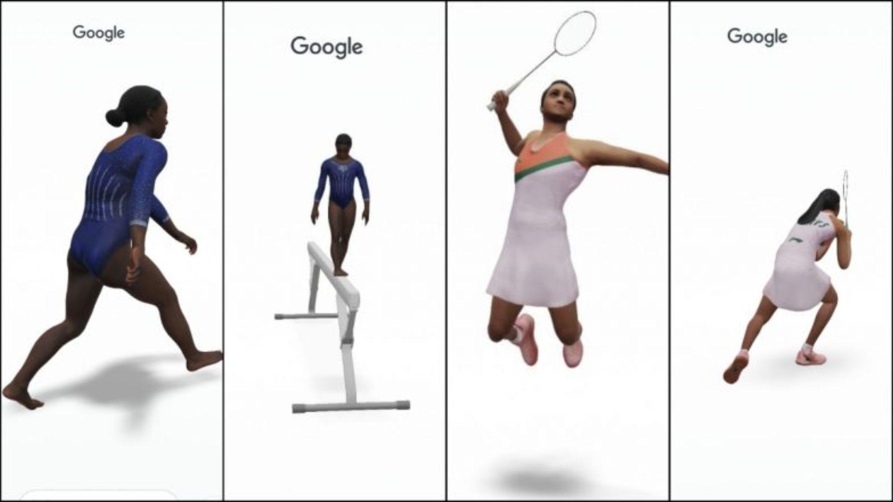 Los deportistas de Tokio 2020 en realidad aumentada de Google Chrome