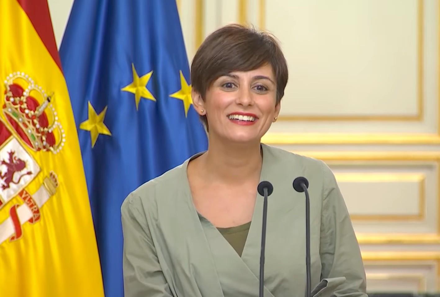 La ministra de Política Territorial, Isabel Rodríguez.