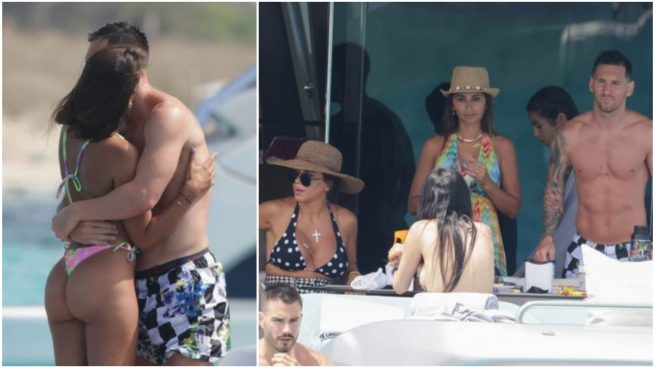 Antonella y Messi en Ibiza (Gtres)