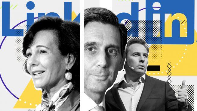 Botín, Gimeno y Pallete, ejecutivos en Linkedin
