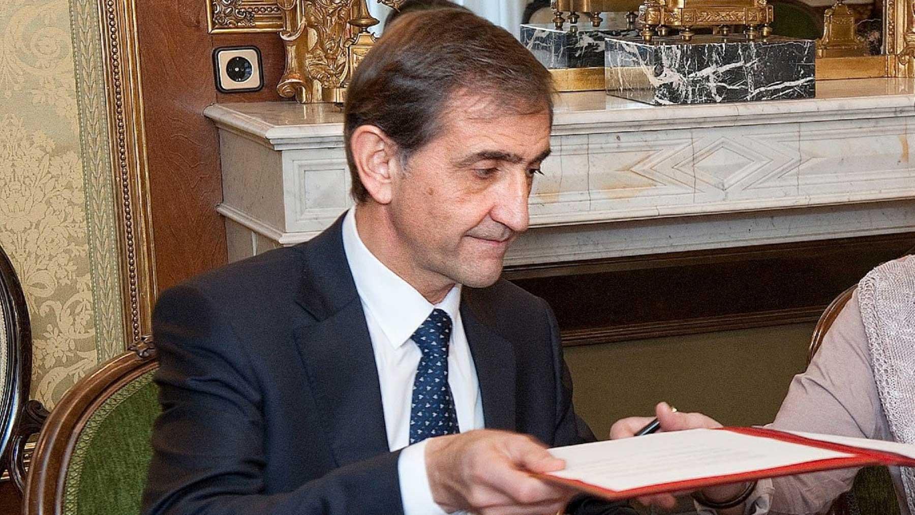El presidente de Volkswagen Navarra, Emilio Sáenz