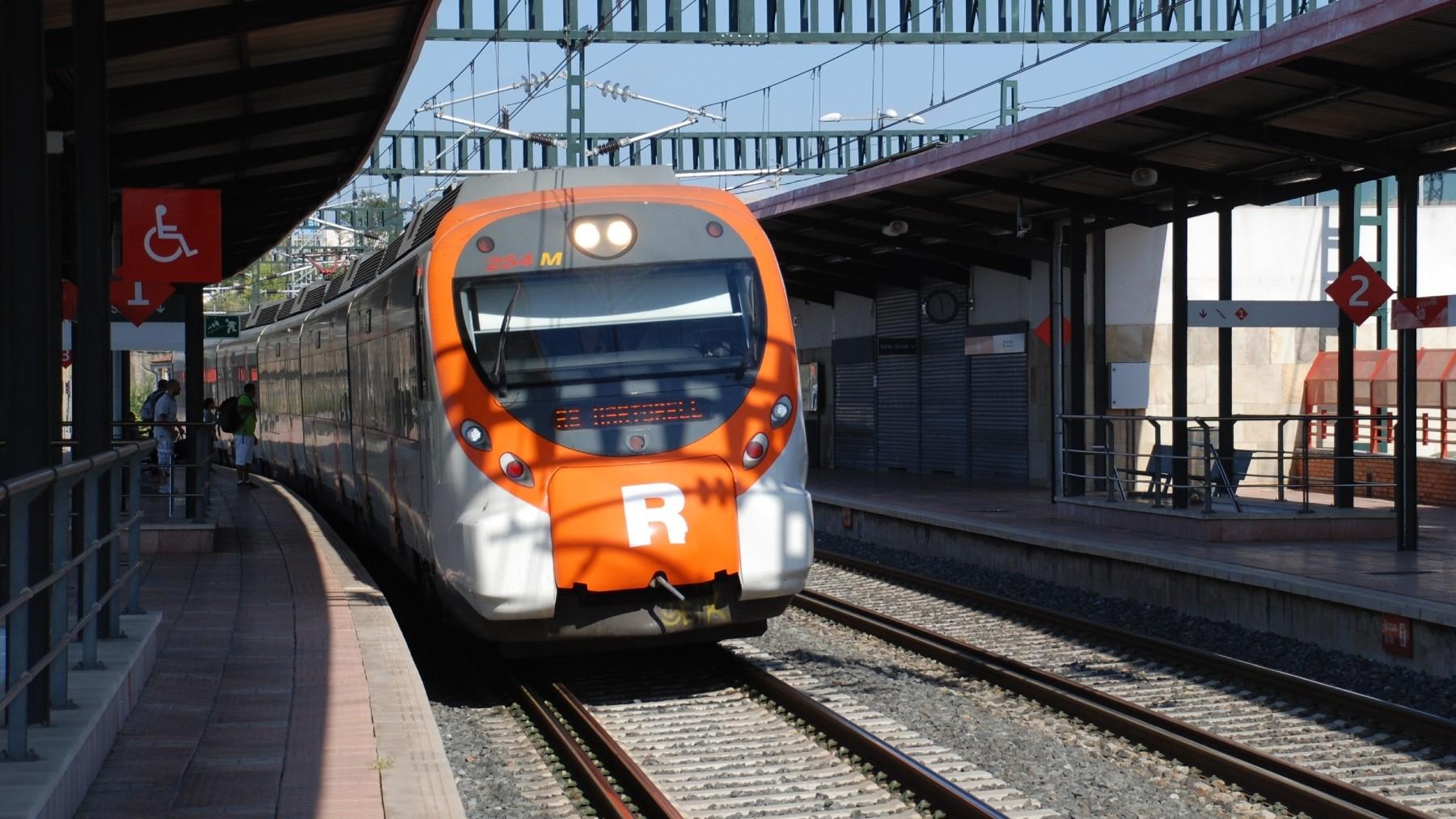 Tren de Rodalies de Cataluña.
