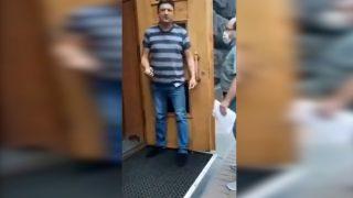 DEtenido veterano de guerra ucrania kiev granada estallar gobierno