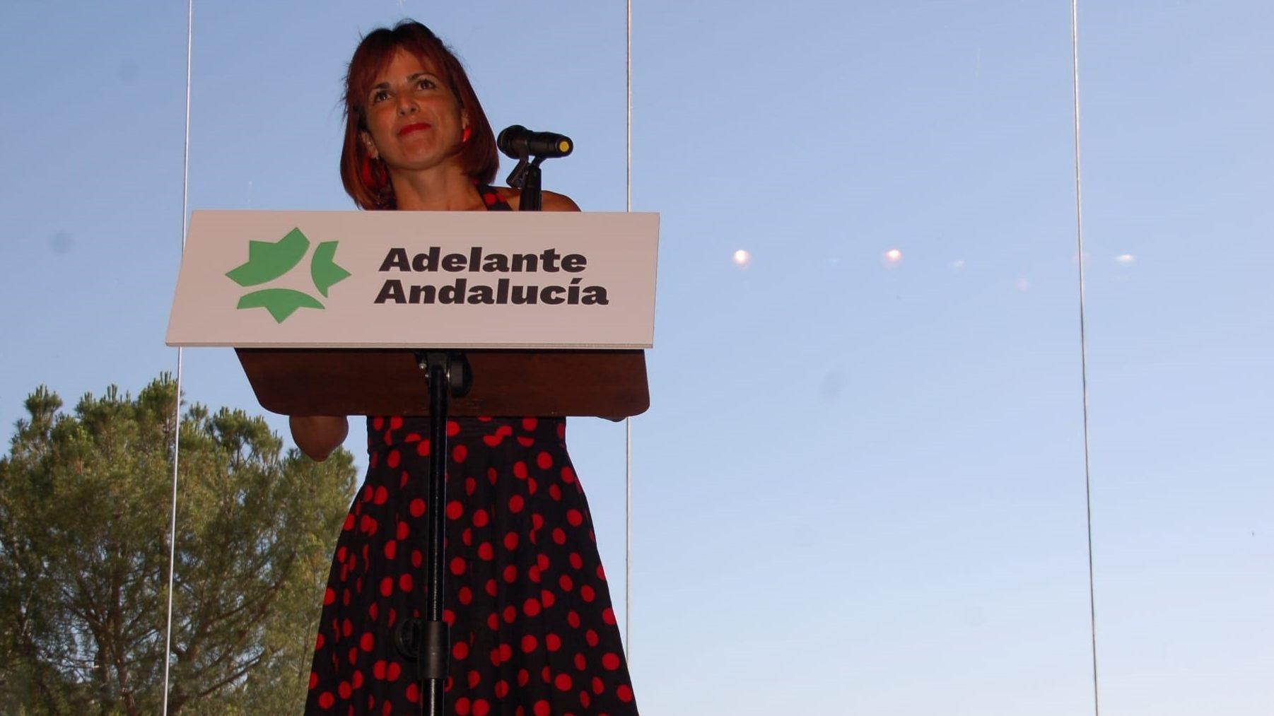 Teresa Rodríguez, portavoz de Adelante Andalucía y Anticapitalistas.