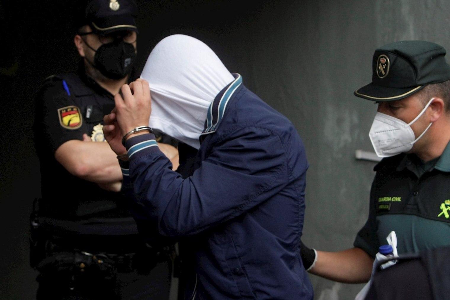 Diego Montaña, el principal acusado a su llegada a los juzgados.