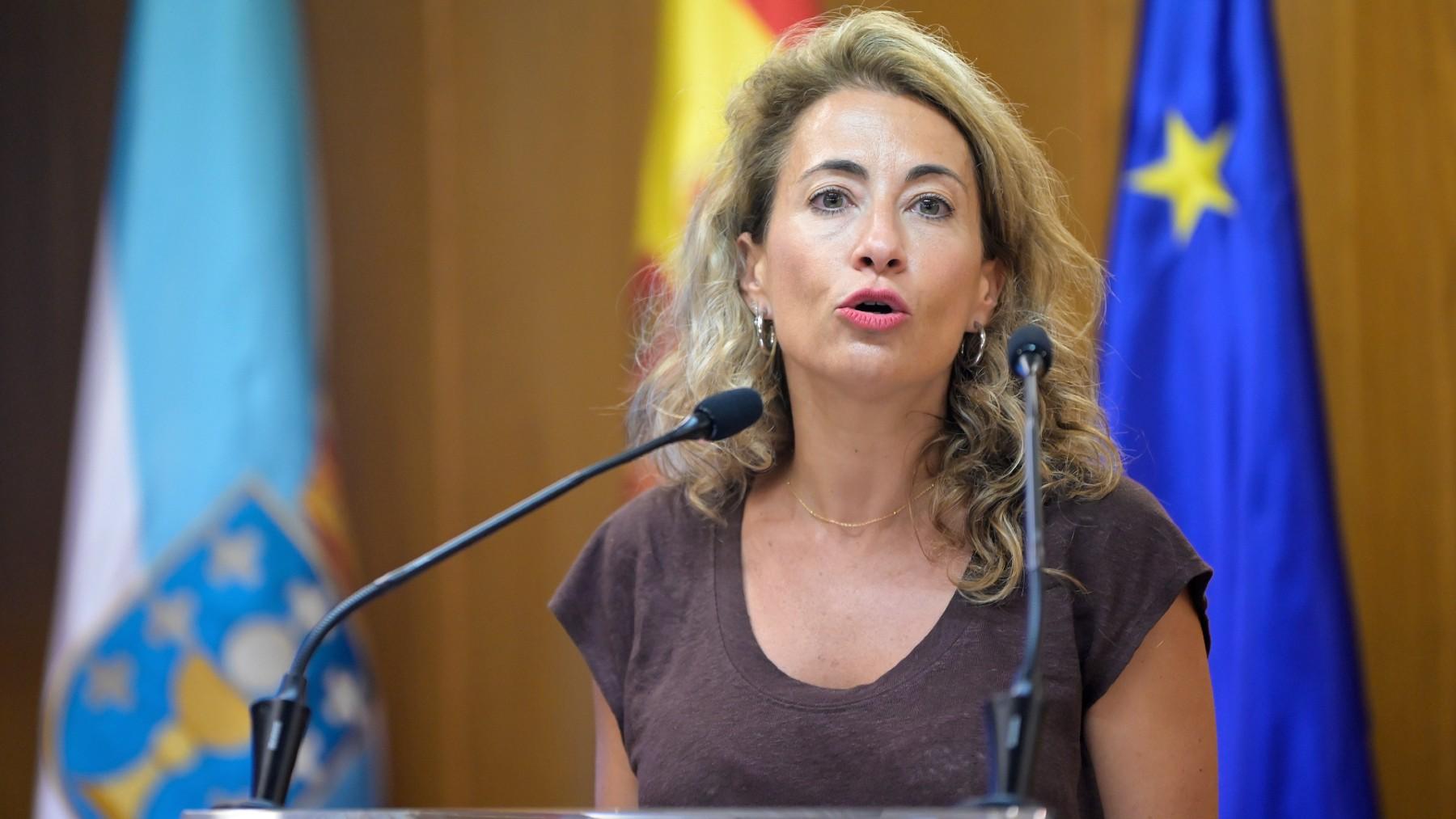 La ministra de Transportes, Movilidad y Agenda Urbana, Raquel Sánchez. (Foto: Europa Press)