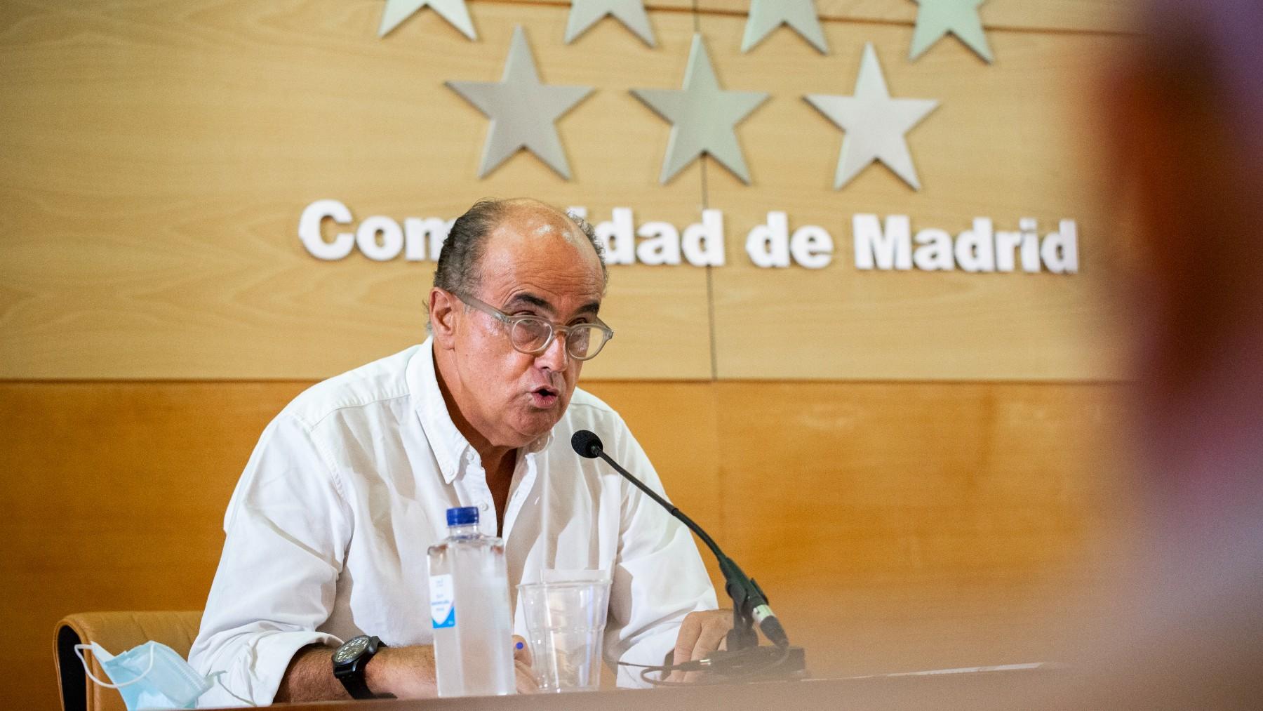 El viceconsejero de Asistencia Sanitaria y Salud Pública de la Comunidad de Madrid, Antonio Zapatero.