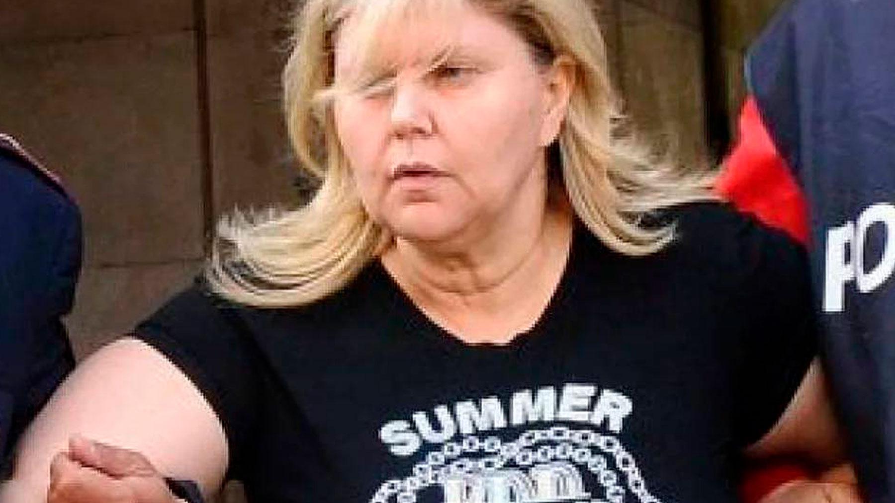 La jefa de la mafia napolitana, María Licciardi, conocida como «La Piccoletta» en el momento de su detención.