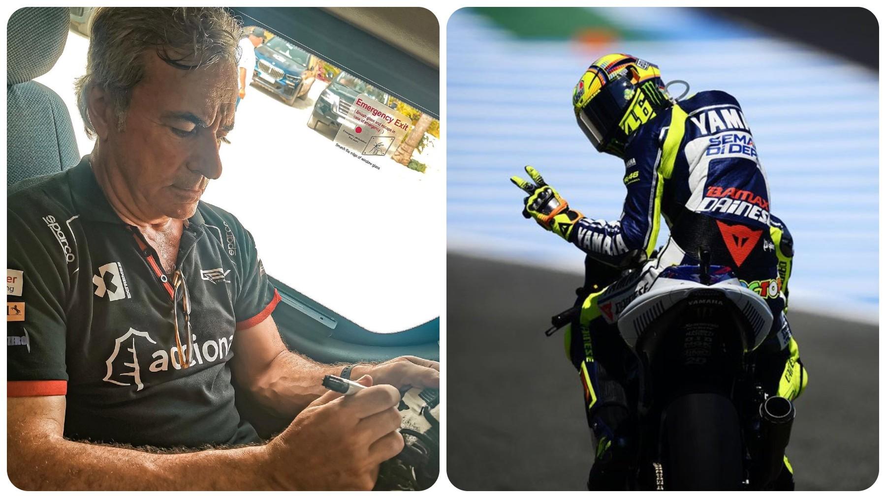 Carlos Sainz y Valentino Rossi.