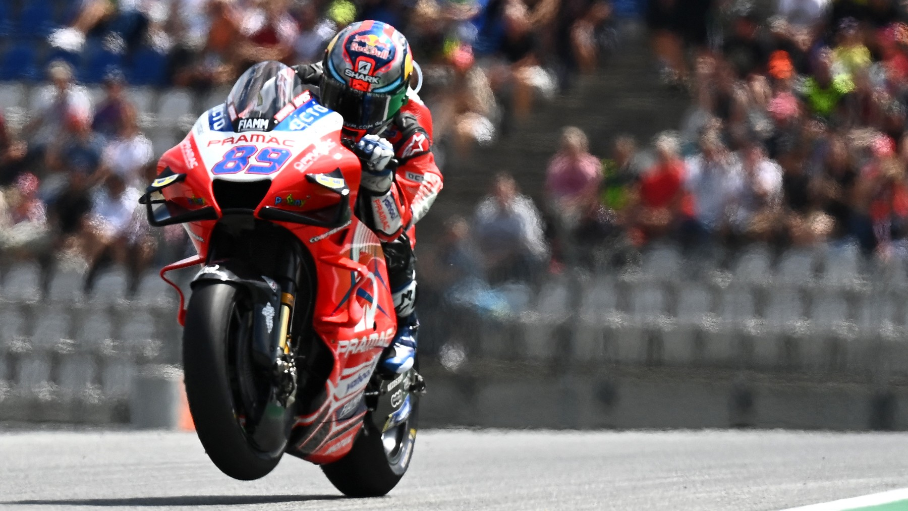 Jorge Martín, durante el Gran Premio de Estiria de MotoGP. (AFP)
