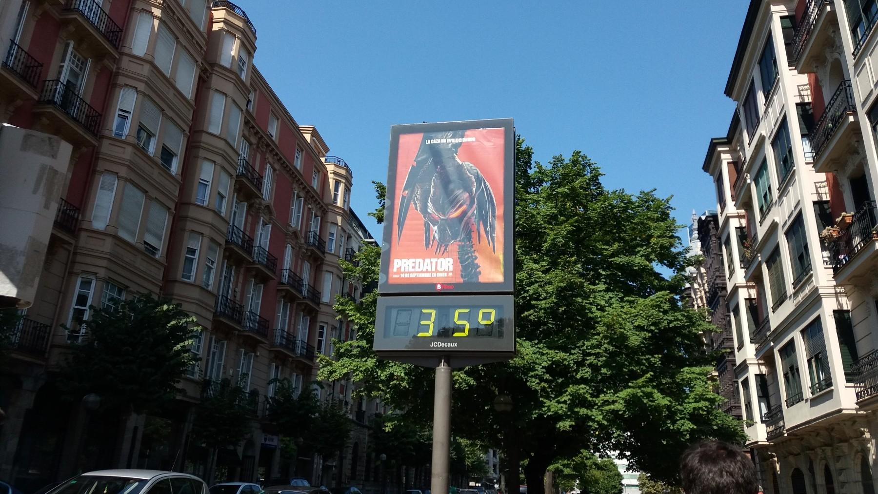 Suben los termómetros en el centro del país.