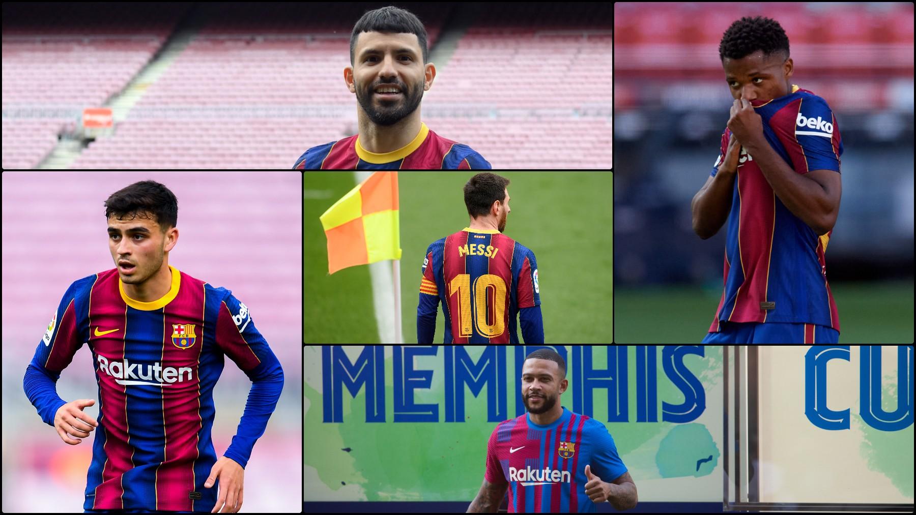 Pedri, Agüero, Ansu Fati y Depay, candidatos a heredar el 10 de Messi.