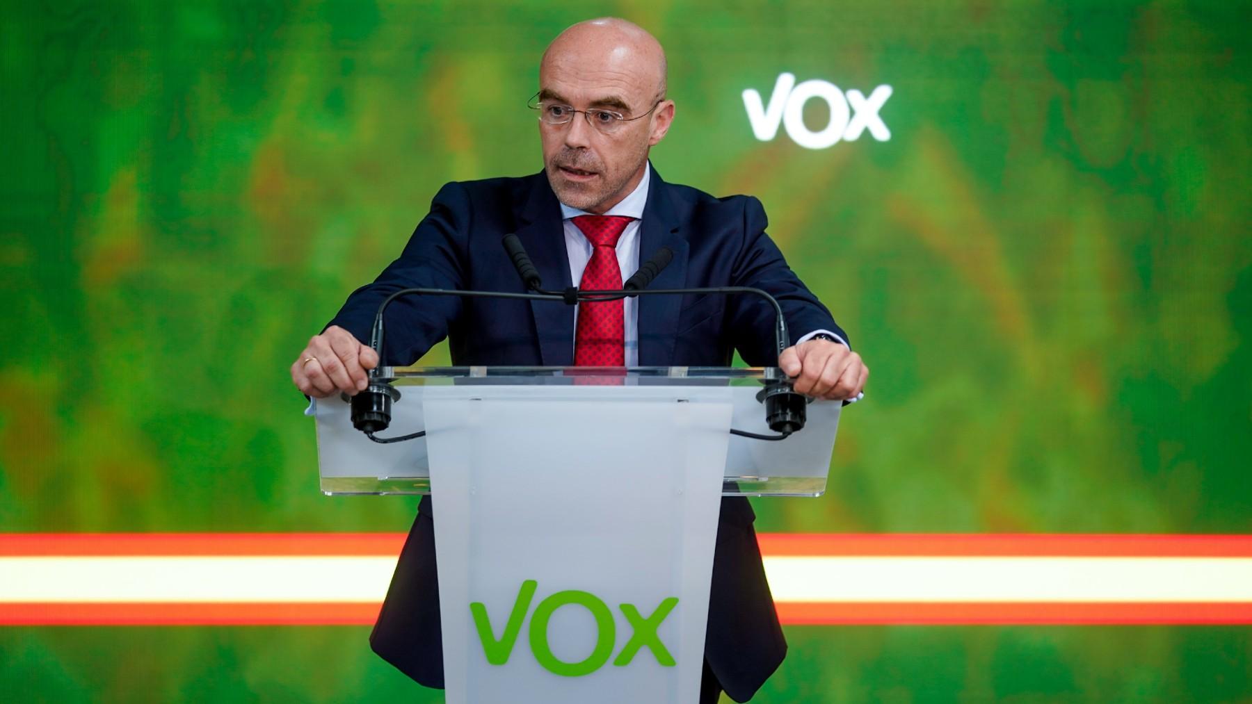 El portavoz nacional de Vox, Jorge Buxadé. (Foto: Europa Press)